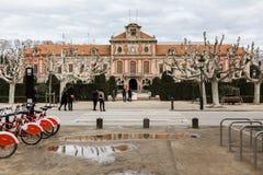 卡塔龙尼亚的议会在巴塞罗那 免版税库存照片