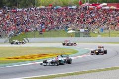卡塔龙尼亚的配方1国际长途大赛车 免版税图库摄影