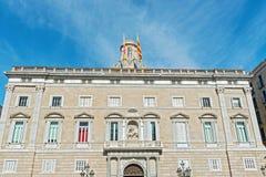 卡塔龙尼亚的巴塞罗那,西班牙总统大厦 库存照片