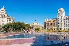 卡塔龙尼亚的Placa de Catalynia Square 库存图片