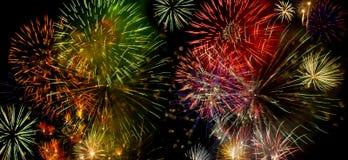 卡塔龙尼亚节日pyrotecnics 库存照片