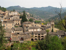 卡塔龙尼亚西班牙村庄 库存照片