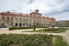 卡塔龙尼亚,大厦,公园, parc de la ciutadella, B的议会 图库摄影