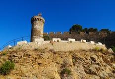 卡塔龙尼亚de 3月西班牙tossa 库存照片