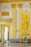 卡塞尔塔宫殿,有位于卡塞尔塔的一个巨大公园的一王宫 免版税库存图片