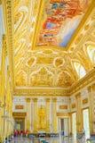卡塞尔塔宫殿,有位于卡塞尔塔的一个巨大公园的一王宫 免版税库存照片