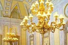 卡塞尔塔宫殿,有位于卡塞尔塔的一个巨大公园的一王宫 图库摄影