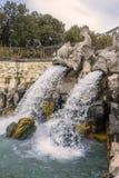 卡塞尔塔王宫喷泉 免版税库存照片