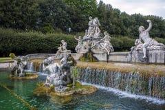 卡塞尔塔王宫喷泉 免版税库存图片