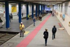 卡塞尔Documenta 14前地下火车站的画展地点 免版税库存图片