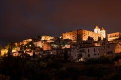 卡塞里斯,中世纪城市 图库摄影