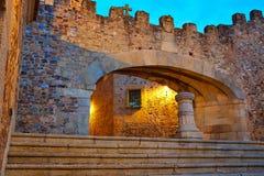 卡塞里斯Arco de la埃斯特里拉曲拱在西班牙 免版税库存照片