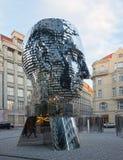 卡夫卡的转动的纪念碑 免版税库存照片