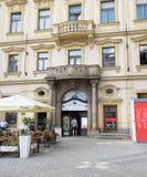 卡夫卡cafè -布拉格-捷克 免版税库存照片