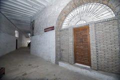 卡夫拉,科多巴,西班牙, 9月省斗牛场内部  图库摄影