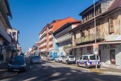 卡宴,法属圭亚那的首都 免版税库存照片