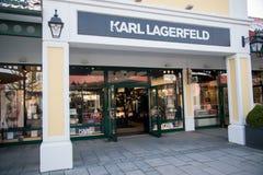 卡尔・拉格斐商店在Parndorf,奥地利 免版税库存图片
