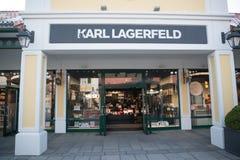 卡尔・拉格斐商店在Parndorf,奥地利 库存照片