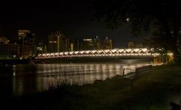 卡尔加里和平桥梁 库存图片