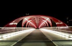 卡尔加里和平桥梁 免版税库存图片