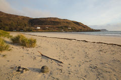 卡尔加里海湾海滩马尔岛苏格兰英国苏格兰内在Hebrides 库存图片