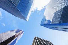 卡尔加里-摩天大楼在市中心 库存图片