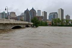 卡尔加里洪水2013年 库存照片