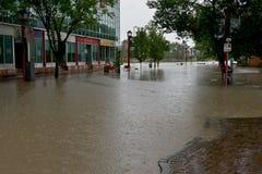 卡尔加里洪水2013年 图库摄影