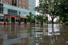 卡尔加里洪水2013年 免版税库存照片