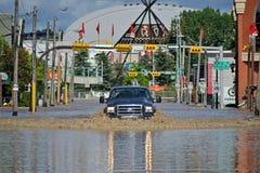 卡尔加里洪水2013年 免版税库存图片