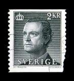 卡尔十六世・古斯塔夫, serie国王,大约1985年 免版税库存照片