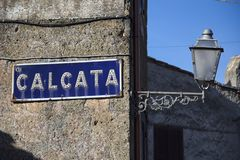 卡尔卡塔,维泰博,拉齐奥,意大利,欧洲 免版税库存图片