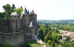 卡尔卡松中世纪城堡,法国 免版税库存照片