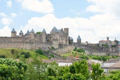 卡尔卡松城堡。 法国 免版税库存照片