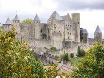 卡尔卡松城堡  免版税库存图片