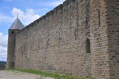 卡尔卡松镇墙壁 库存图片