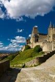 卡尔卡松,法国城堡堡垒  免版税库存图片