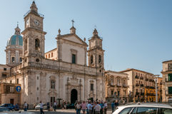 卡尔塔尼塞塔大教堂 库存照片