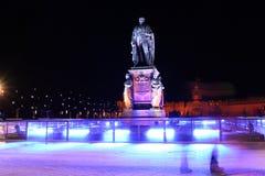 卡尔弗里德里克冯Baden纪念碑在卡尔斯鲁厄 免版税库存图片