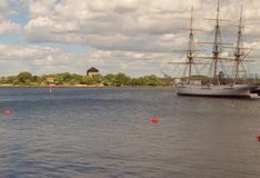 从卡尔斯克鲁纳的帆船 免版税库存图片