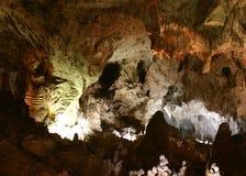 卡尔斯巴德洞穴内部视图 图库摄影