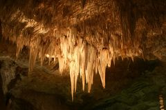 卡尔斯巴德洞穴钟乳石 免版税库存照片