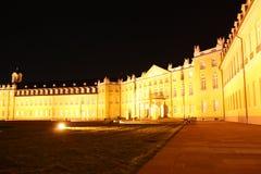 卡尔斯鲁厄宫殿在晚上 免版税库存照片