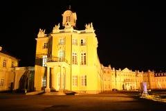 卡尔斯鲁厄宫殿在晚上 免版税库存图片
