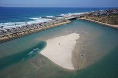 卡尔斯巴德阿瓜Hedionda盐水湖天线 库存图片
