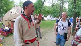 卡尔梅克告诉yurt 影视素材