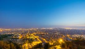 从卡尔梅洛地堡的巴塞罗那视图 图库摄影