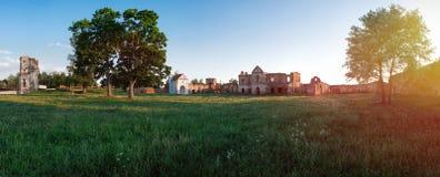 卡尔特教团修道院的废墟1648-1666年在Beryoza,白俄罗斯 免版税库存照片