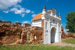 卡尔特教团修道院门1648-1666年在Beryoza,布雷斯特地区,白俄罗斯 免版税图库摄影