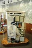 卡尔珀金斯展览在西方田纳西三角洲遗产中心和博物馆 免版税库存照片